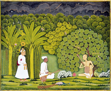 Akbar_and_Tansen_visit_Haridas